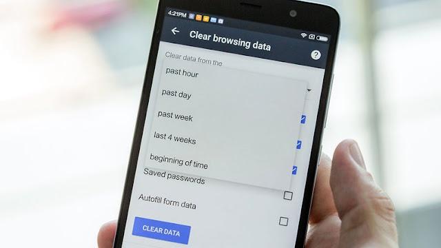 android data penjelajahan yang jelas di ponsel