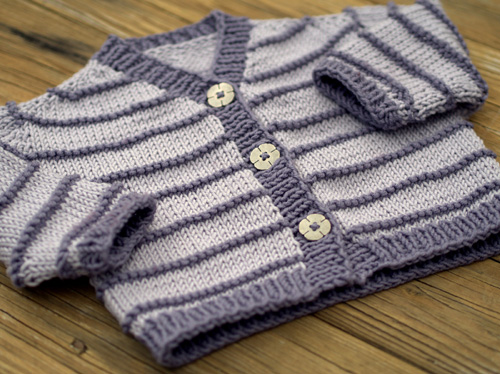Contiguous Baby Cardigan with Peplum - Free Pattern
