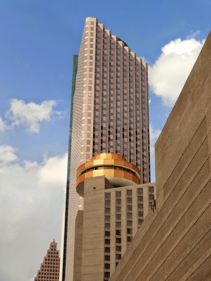The Spindletop Revolving Restaurant With Panoramic View Of Downtown Houston
