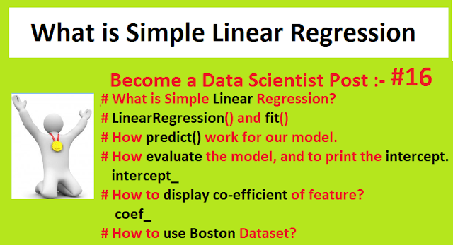 What is Simple Linear Regression