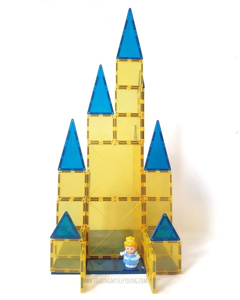cinderella magnetic castle with gates open