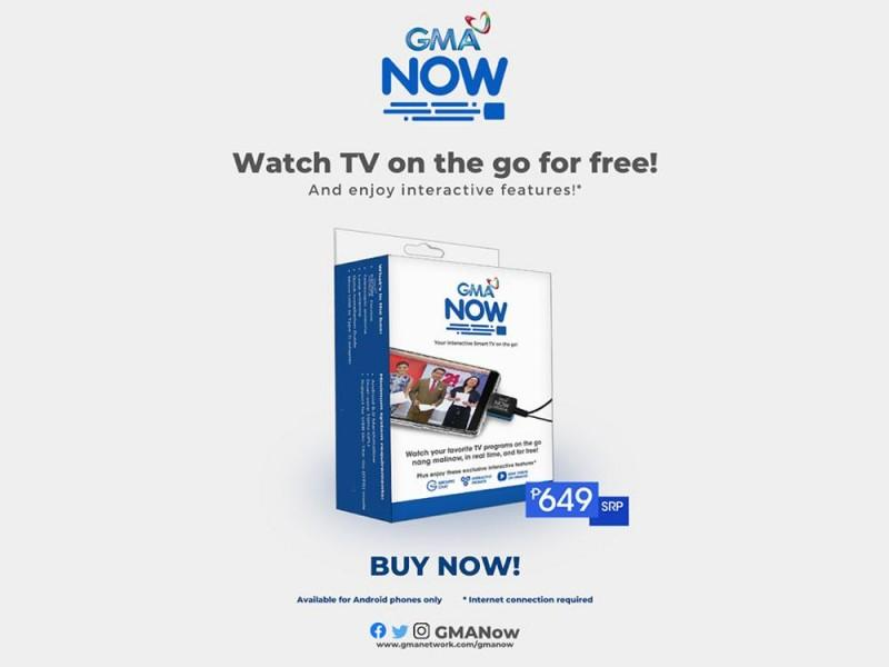 GMA Now digital TV dongle for smartphones now available