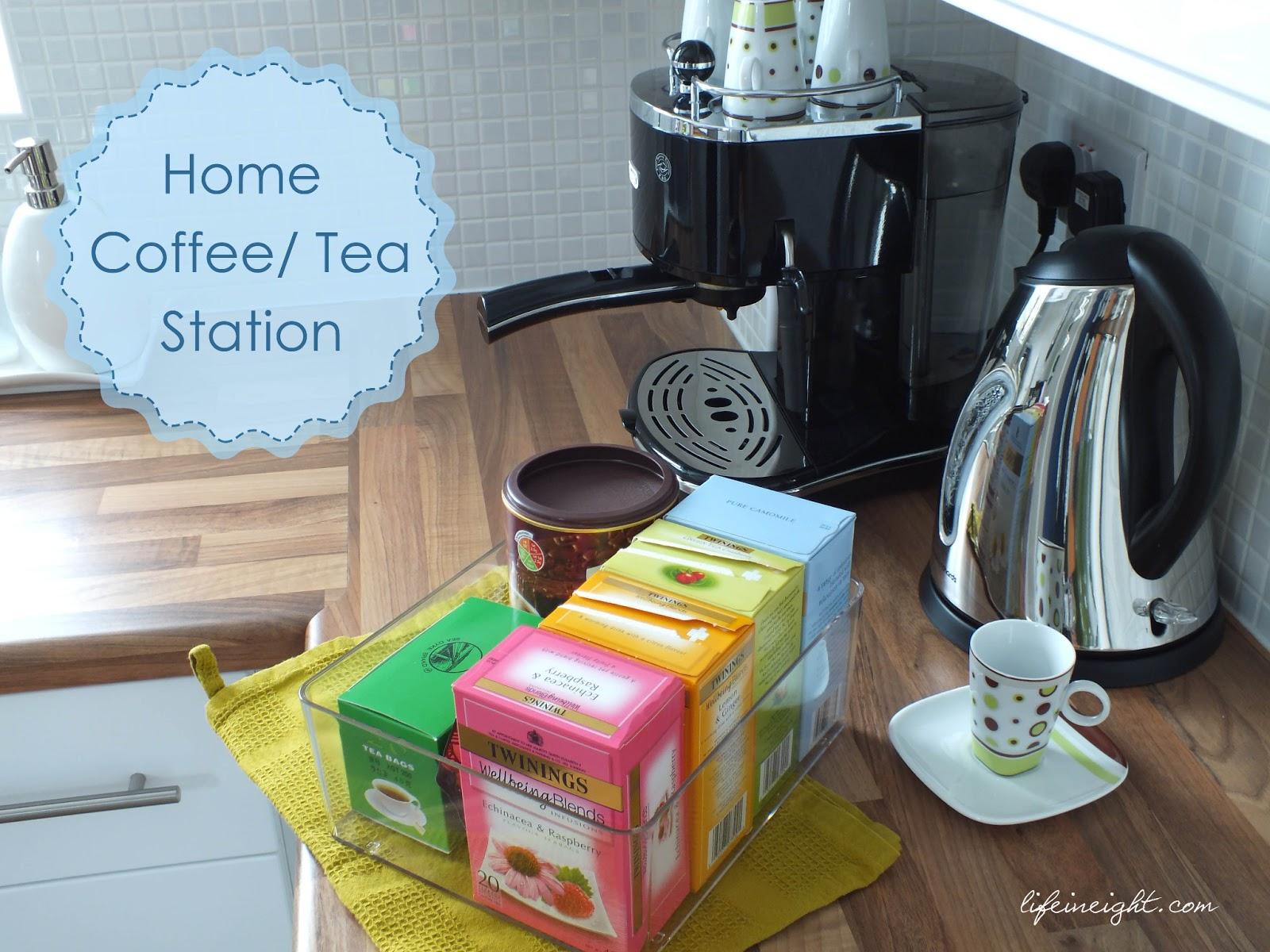 How I Set Up Our Coffee Tea Station