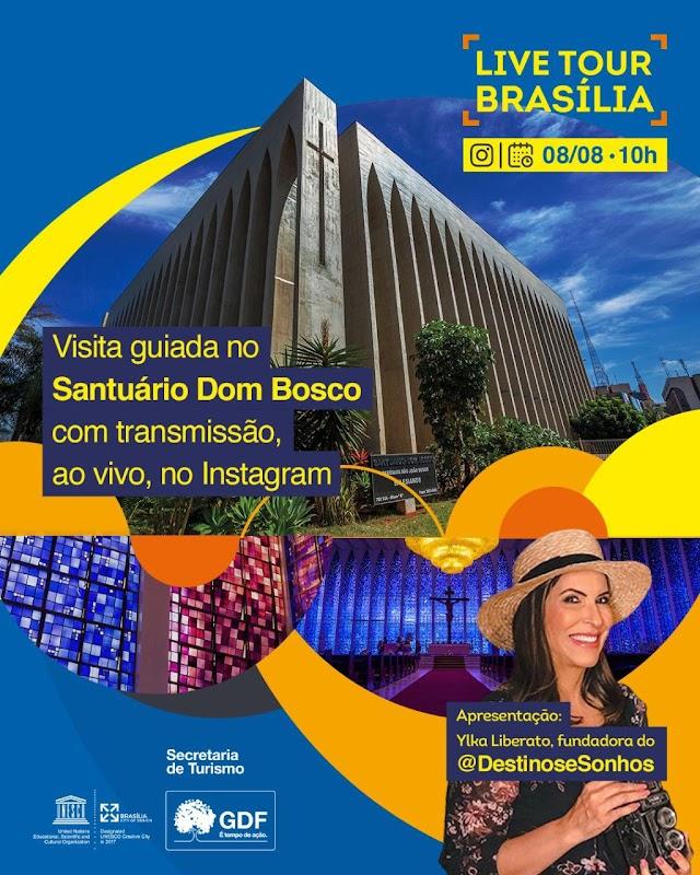 Setur-DF apresenta as belezas e os mistérios do Santuário Dom Bosco neste sábado (8) durante visita virtual guiada