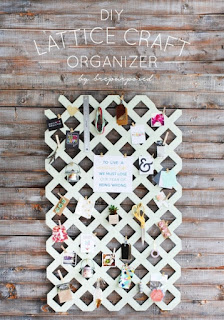 DIY Lattice Organizer