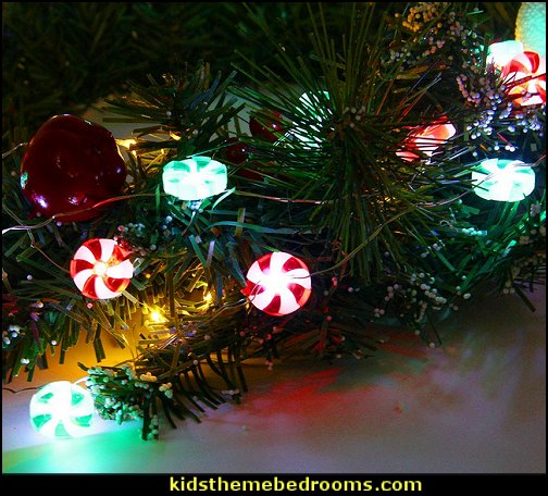 Candy Christmas LED String Light  candy Christmas theme decorating - candy themed christmas decorations - christmas candyland decorations -  candy ornaments -  candy shaped holiday ornaments - candy themed Christmas decor -   lollipop candy swirls Throw Pillows - Candy Christmas Tree  - candy stripe Chritmas decor - Candy Cupcake Ornaments