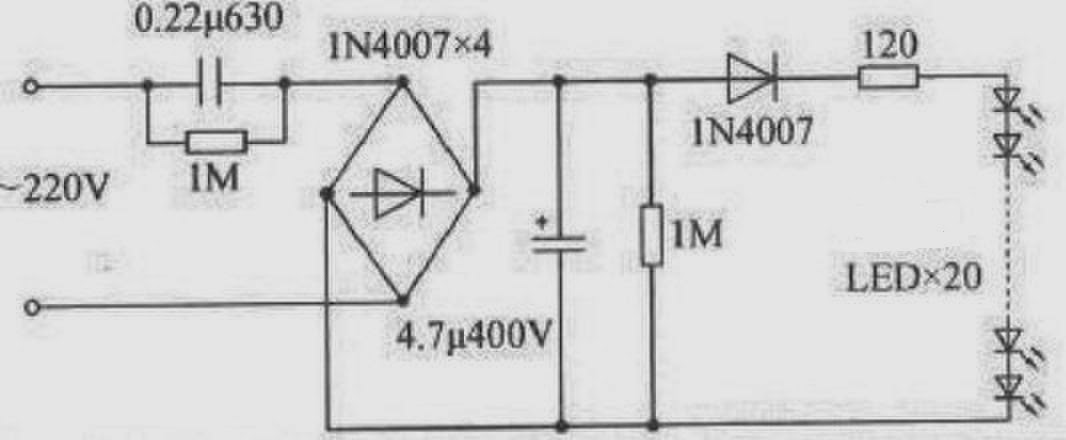 LED home lighting circuit drawing