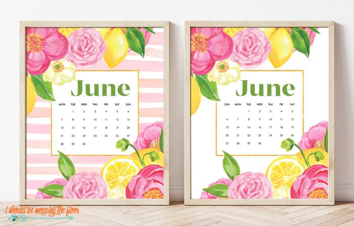 June Calendar Printables