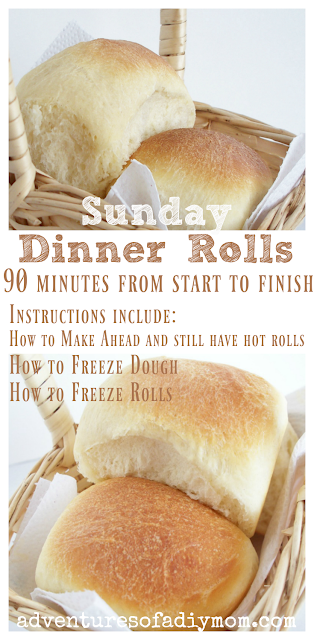 90 Minute Sunday Dinner Rolls Collage