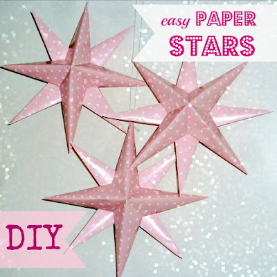 how to make easy paper stars