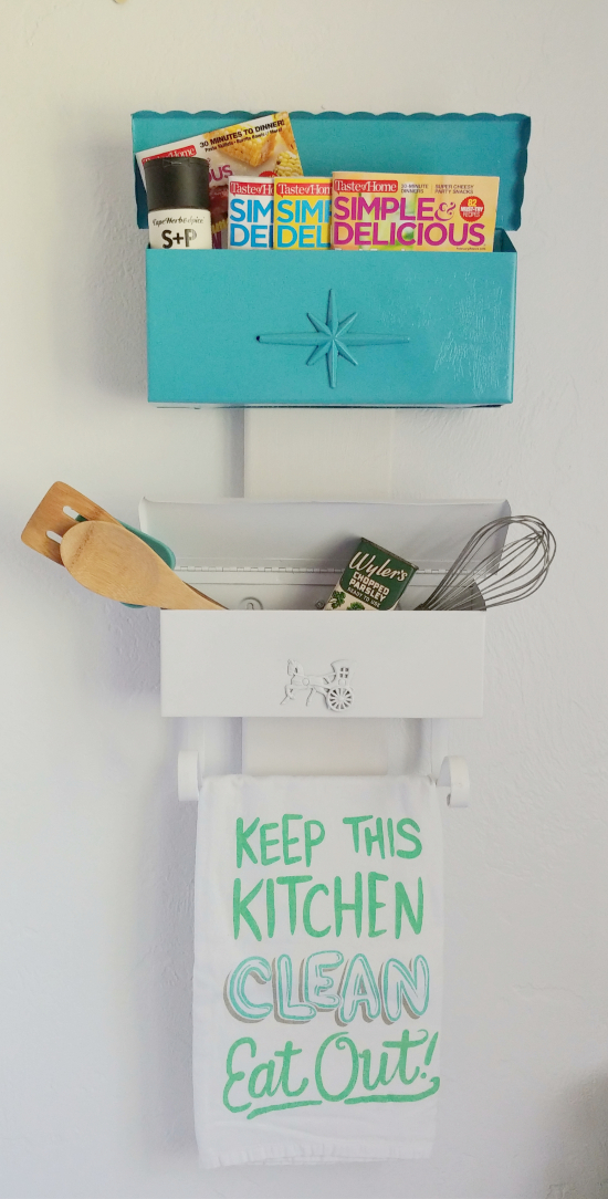 repurpose some vintage mailboxes into cute storage