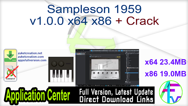 Sampleson 1959 v1.0.0 x64 x86 + Crack