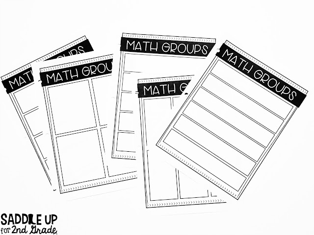 Easily manage your math groups with this guided math binder. It includes multiple options for planning, data, and so much more.