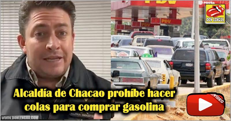 Alcaldía de Chacao prohíbe hacer colas para comprar gasolina