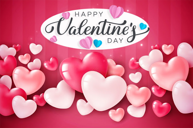 Valentine's Day love pink hearts Image