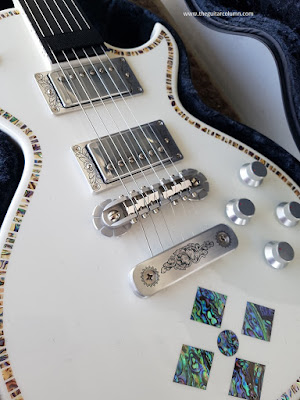 Zemaitis A24SU White Pearl Diamond inlays