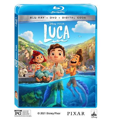 Disney Pixar Luca Movie Bluray DVD Digital