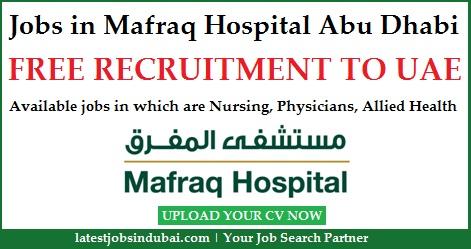 Jobs in Mafraq Hospital Abu Dhabi