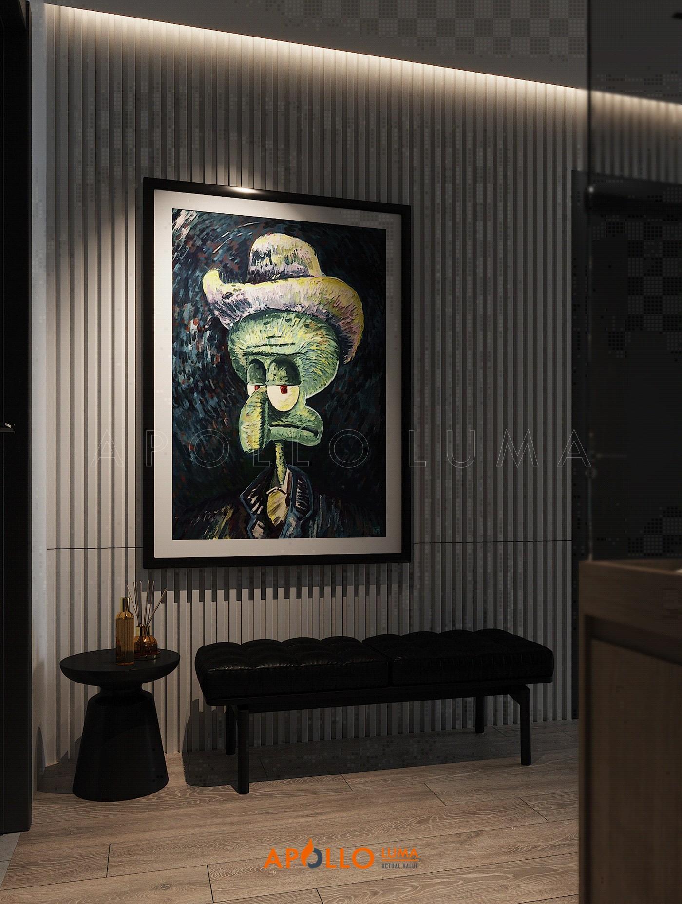 Thiết kế nội thất căn hộ 2 phòng ngủ The Summit 216 Trần Duy Hưng