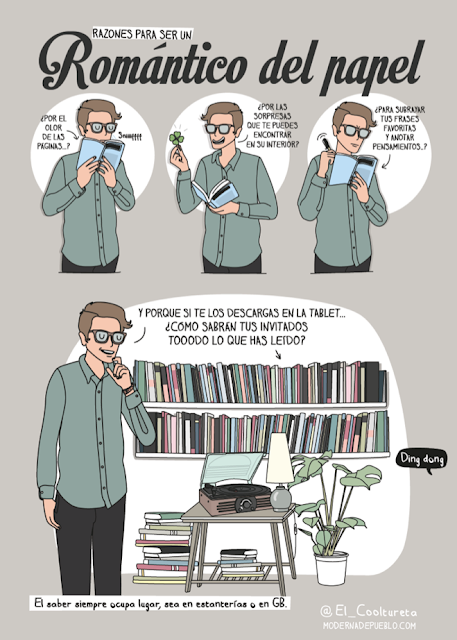Meme sobre postureo lector