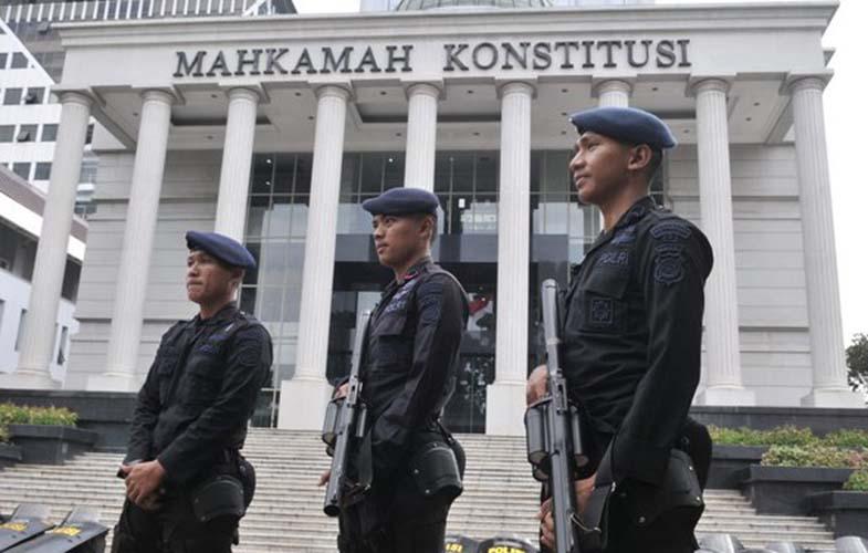 Pengamanan di gedung MK