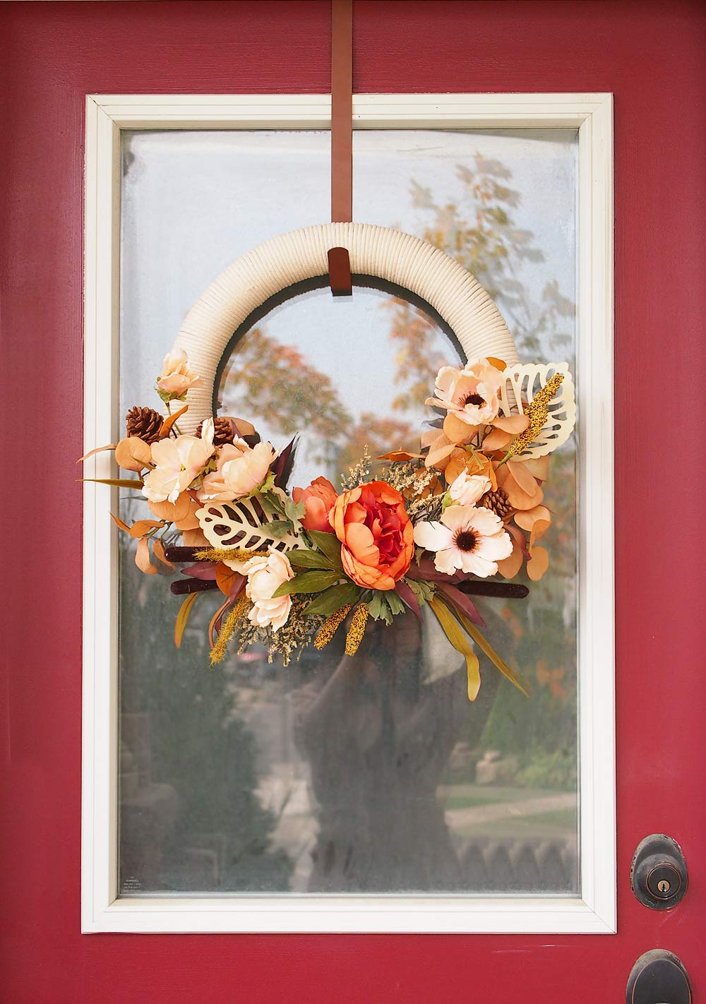 Fall Cotton Rope Wreath DIY