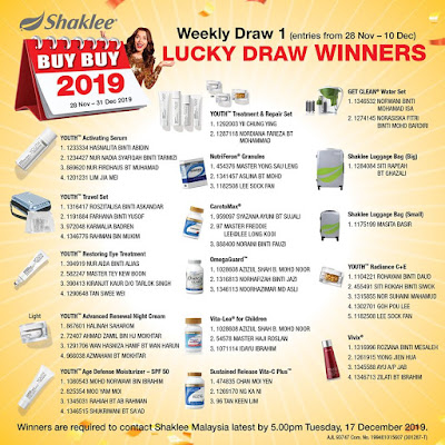 Lucky Draw Shaklee 2019