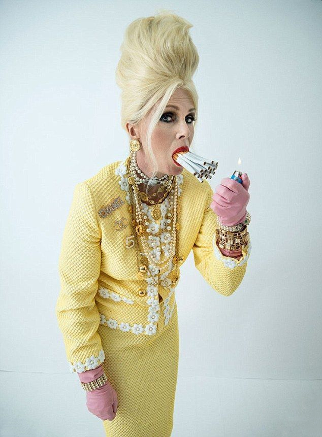 Joanna Lumley as Ab Fab Patsy shot by Tim Walker - V&A Photography Exhibition