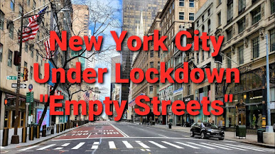 A Lock-down Means Empty Streets And Businesses Closed