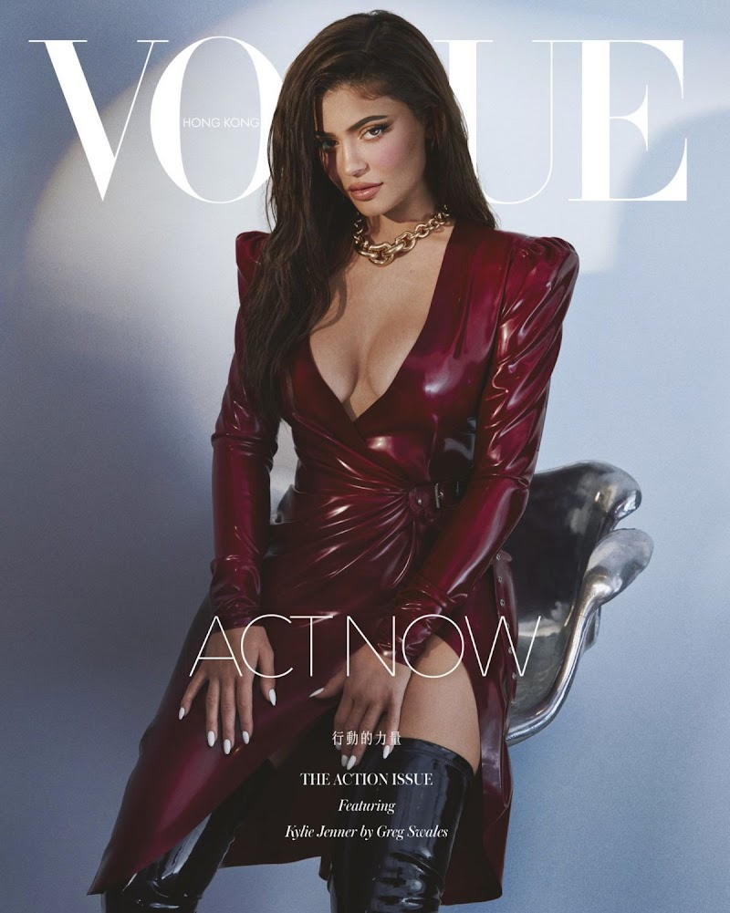 Kylie Jenner Featured in Vogue Magazine-  Hong Kong August 2020
