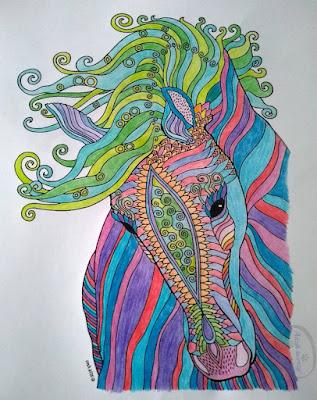 Kolorowanki dla dorosłych jako obrazy do wnętrz - Adzik tworzy