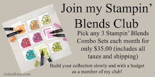 stampin' blends, rick adkins, stampin up monthly club