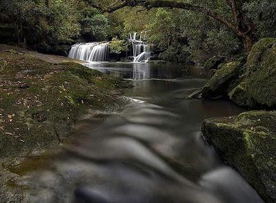 Secret world: A hidden waterfall.