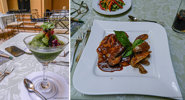 Pratos do Restaurante La Scala, no Hotel de la Ópera, La Candelaria, Bogotá