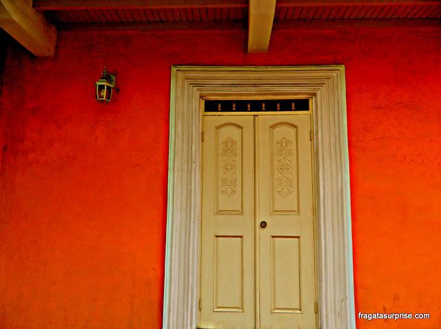 Fachada colonial no Casco Viejo da Cidade do Panamá