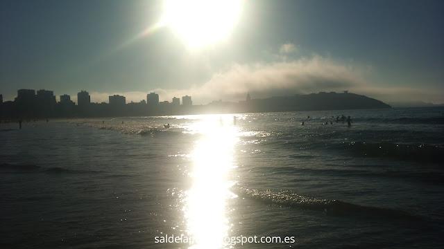 atardecer-playa- san-lorenzo-gjión