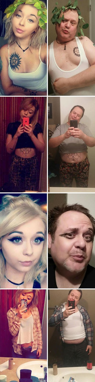 40 Photos Of The Most Hilarious Parents You Will Ever Meet - Dad Trolls His Daughter By Recreating Her Selfies