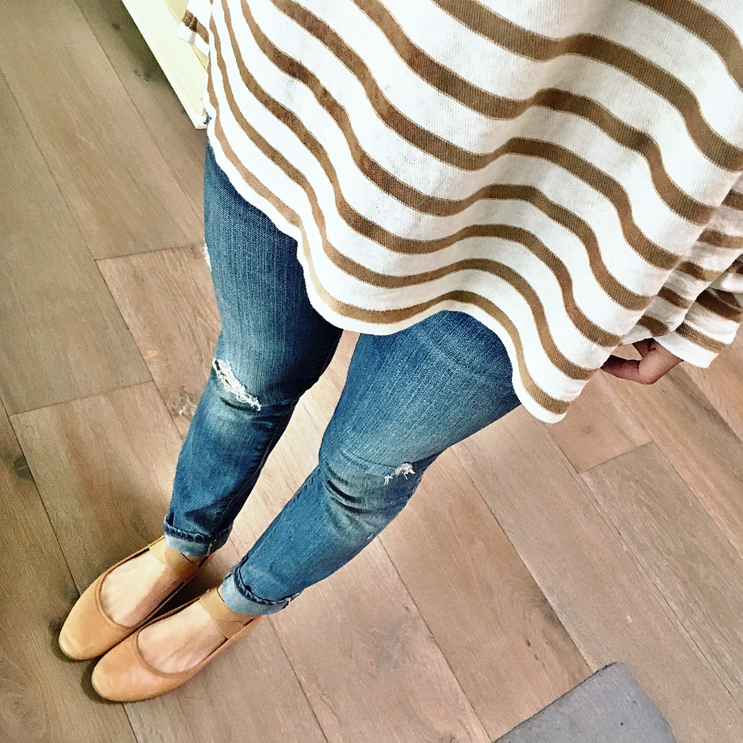stripes and ballet flats