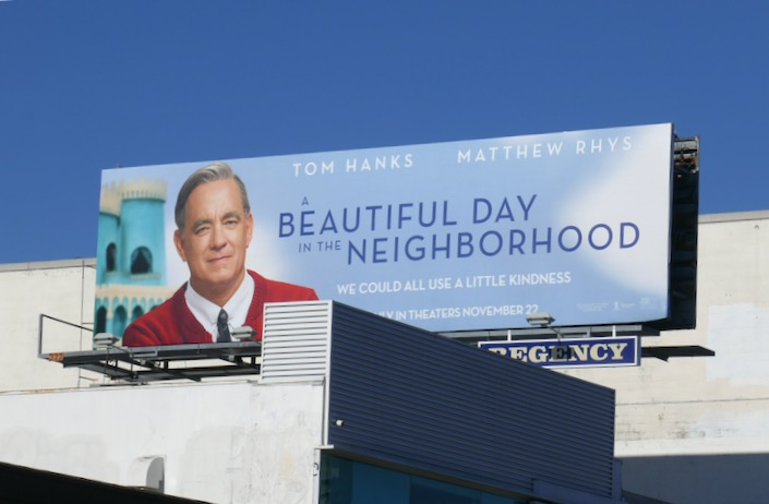 A Beautiful Day in the Neighborhood film billboard