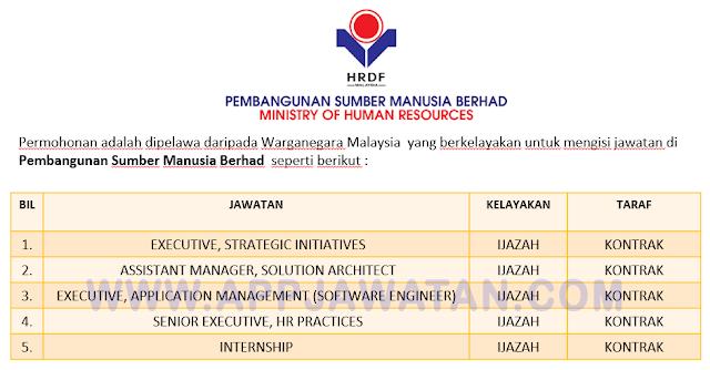 Jawatan Kosong Terkini di Pembangunan Sumber Manusia Berhad.