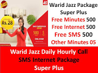Jazz daily call package, Jazz daily sms package, Jazz daily internet package, Jazz all in one package, Jazz hourly package, Jazz hourly call package, Jazz hourly sms package, Jazz hourly internet package
