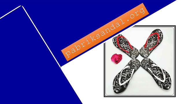 Pabrik Sandal Spon Termurah - Sandal Love Bear Spon Cewe AB