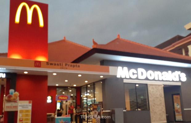 McDonalds Tabanan hadir dengan self-service kiosk