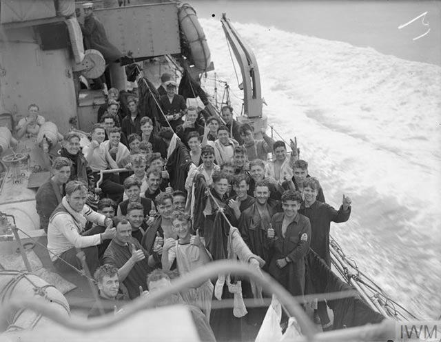 Survivors of HMS Naiad on 11 March 1942 worldwartwo.filminspector.com