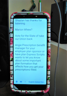 Android phone with speech-to-text transcription