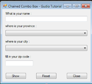 How to Make Chained Combo Box in Visual Studio
