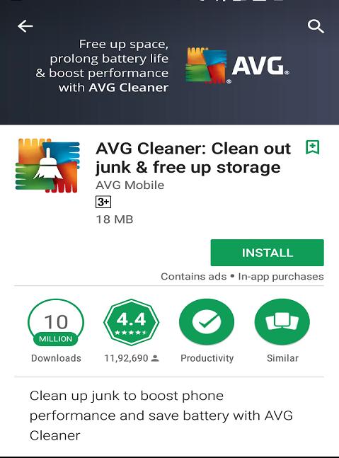 avg cleaner app free download