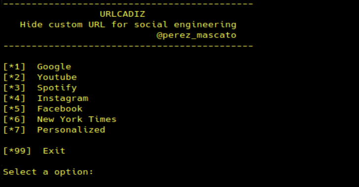 URLCADIZ : A Simple Script To Generate A Hidden URL For Social Engineering