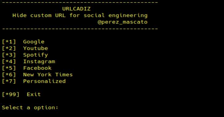 URLCADIZ : A Simple Script To Generate A Hidden URL For Social Engineering