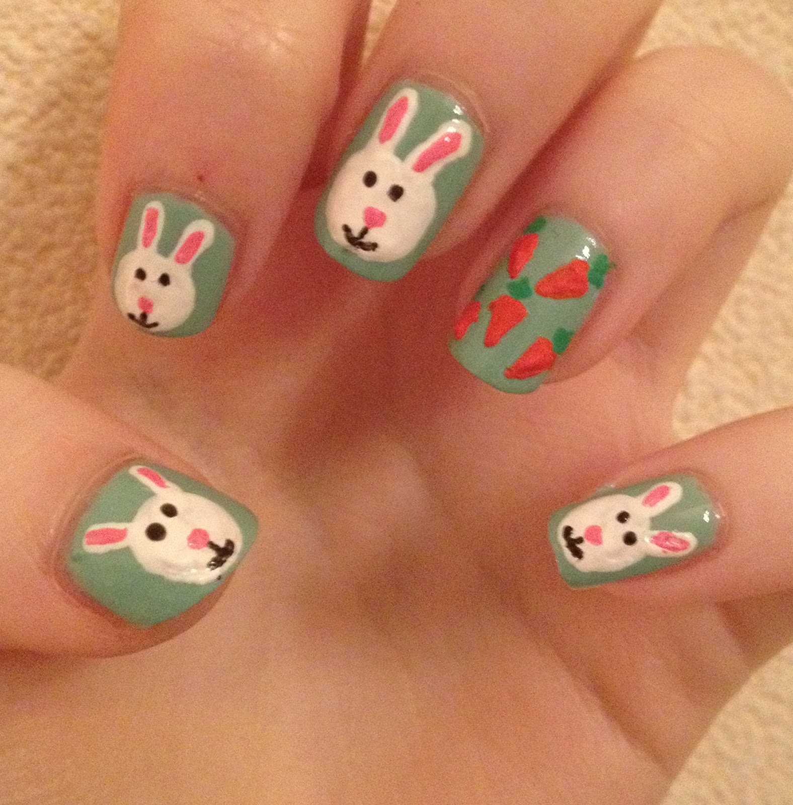 Easter Bunny Nails: Coleyyyful: A Beauty & Fashion Blog: How To Create Easter